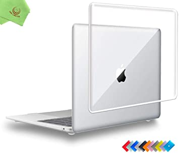 "Glossy-Touch Clear Hard Case Shell Cover Case for MacBook Air 13/"" Retina TouchID"