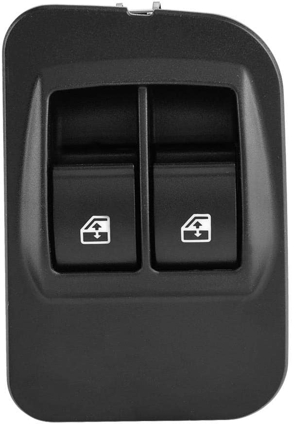 Akozon Window Switch 735461275 Power Window Switch WS228 Electric Window Switch with Frame fit for Nemo 2008-2014 Fiorino 1998-2001 Bipper 2008 Bipper Tepee 2008-2014