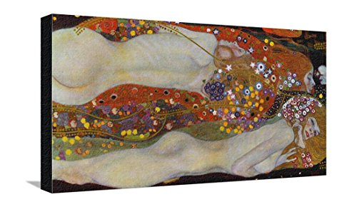 Water Serpents II, c.1907 Stretched Canvas Print by Gustav Klimt - 26.5 x 15 (Gustav Klimt Water Serpents)