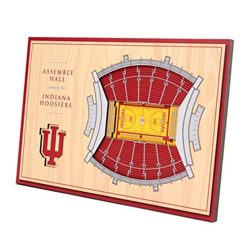 (YouTheFan NCAA Indiana Hoosiers Unisex Indiana HoosiersDesktop Stadium View, Wood Grain, Desktop)