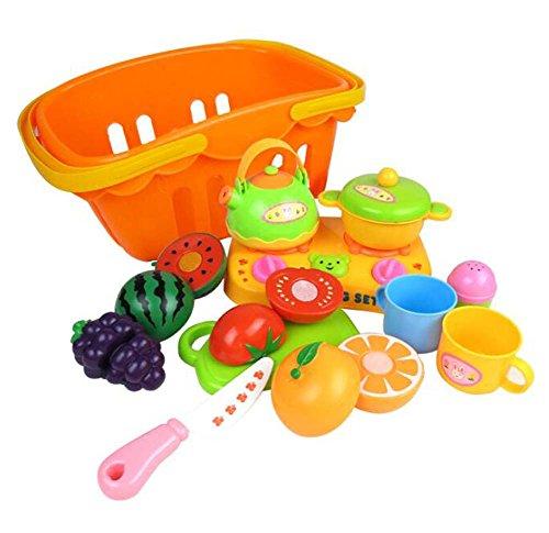 Enfants Simulation Fruits et Légumes Ustensiles de cuisine Puzzle Jouets-F / 13PCS