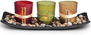 Wollet Home Decor Candle Holders Set for Living Room & Bathroom Decor, Decorative Candle Holder Centerpieces for Dining Room Table & Coffee Table Decor