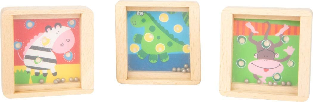 6 Jeux de Patience id/éal comme Souvenir pour Les Enfants /à Part Toys 11744 Small Foot- Small foot11744 Mini-Labyrinthe Animaux en Bois
