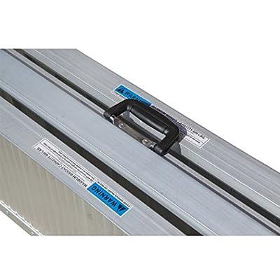 HOMCOM Portable Textured Aluminum Folding Wheelchair Threshold Ramp, 6'