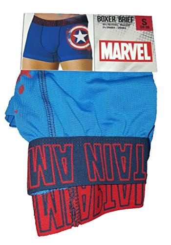 Marvel Comics Captain America Storm Shield Boxer Brief for men (Captain America Underwear)