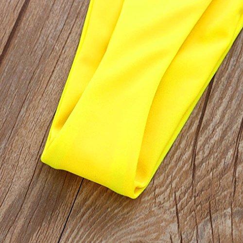 Perizoma da Tronchi Mutandine sexy bagno Nuoto Brasiliane e Solido Thong Slip Costume tanga Giallo costume costumi culotte Donna mare inferiore Parte BYSTE triangolare da bagno donna Bikini vBq05vw
