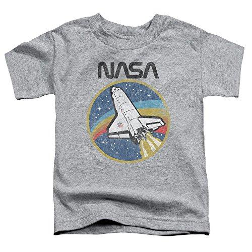 NASA Shuttle Unisex Toddler T Shirt for Boys and Girls Athletic Heather