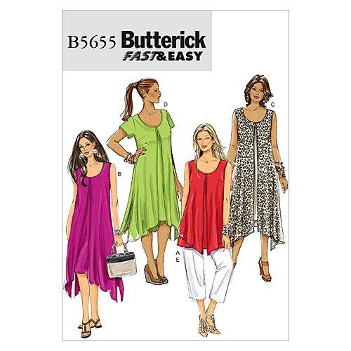 Butterick Patterns B5655 Misses'/Women's Top, Dress and Pants, Size B5 (8-10-12-14-16)