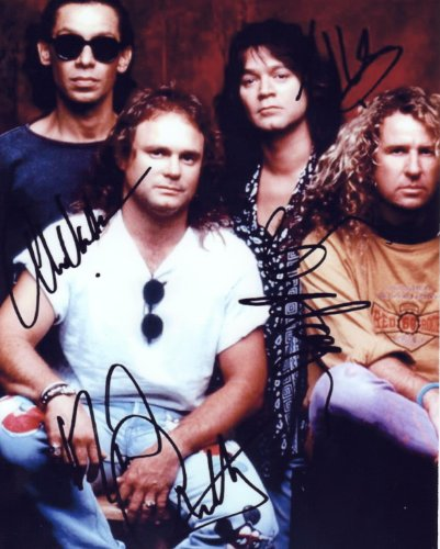 Eddie Van Halen Group Signed Autographed 8 X 10 Reprint Photo - Mint Condition ()