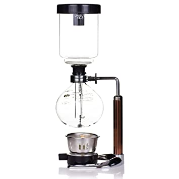 TAMUME 5 Cup Syphon Maker Vacuum Coffee For Brewing And Tea With Extended Handle
