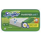 swiffer sweeper wet pads - Swiffer Sweeper Wet Mopping Pad Refills for Floor Mop with Febreze Sweet Citrus & Zest Scent 12 Count (Pack of 6)