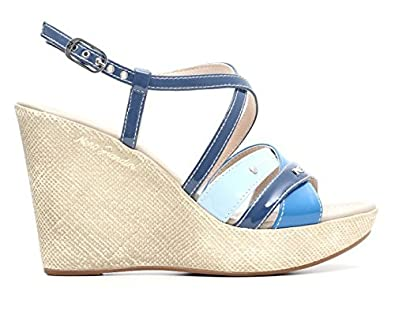 c6c9e2c39b Nero Giardini P615591D 203 Women's Shoes Wedge Sandals, High Heel, Spring  Summer 2016 Leather Avion P6 15591 D: Amazon.co.uk: Shoes & Bags