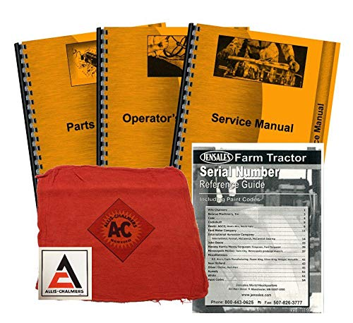 Allis Chalmers WD Deluxe Tractor Manual Kit by Jensales