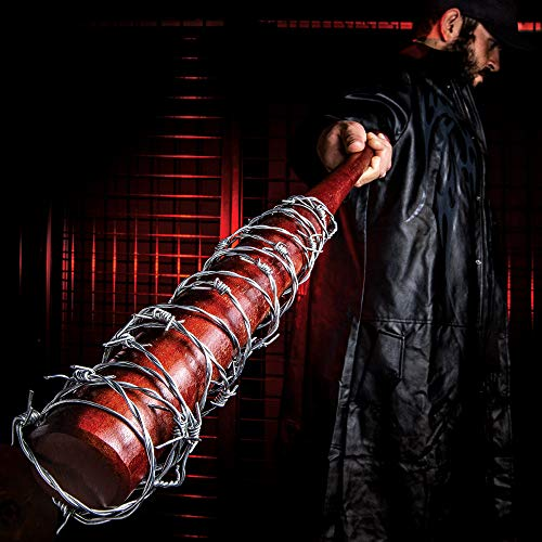 "K EXCLUSIVE Lucille - Barbed Wire Wrapped Baseball Bat - Genuine Hardwood, Stainless Steel Barbed Wire - Regulation Size, 32"" - Zombie Apocalypse Walker Undead Dead Walking TV Television"