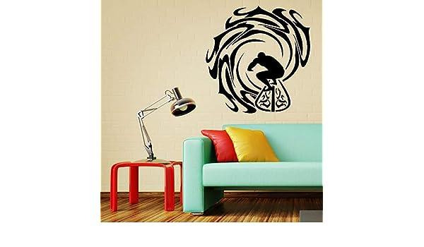 Calcomanías de pared de vinilo de arte angustiado y ondulado ...