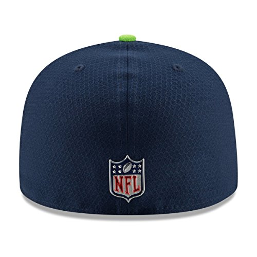 22cdc28f07a06d Amazon.com: New Era 59Fifty Hat Seattle Seahawks NFL 2017 On Field Sideline  Fitted Headwear Cap (7 7/8): Clothing