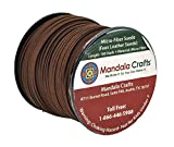 Mandala Crafts 100 Yards 2.65mm Wide Jewelry Making Flat Micro Fiber Lace Faux Suede Leather Cord (Chocolate Brown)