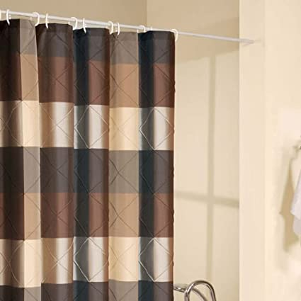 Amazon Royal Court Brown Shower Curtain