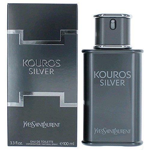 (Yves Saint Laurent Kouros Silver Men's Eau de Toilette Spray, 3.4 Ounce)