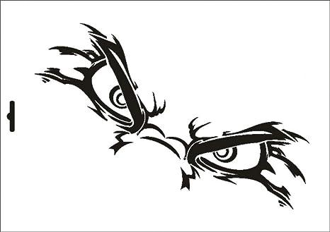 Stencil W-243 Angry Eyes ~ UMR Wall Stencil