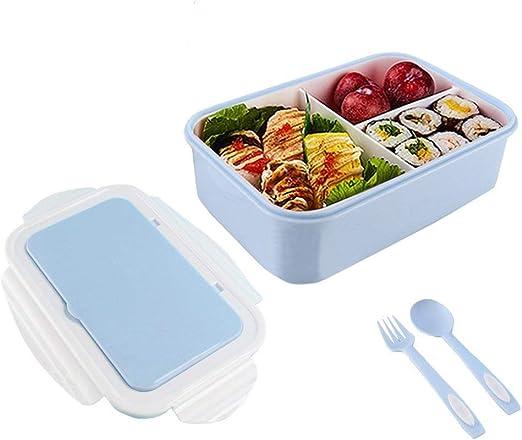 OldPAPA Fiambrera niños,Caja Almuerzo niños con 3 Compartimientos ...