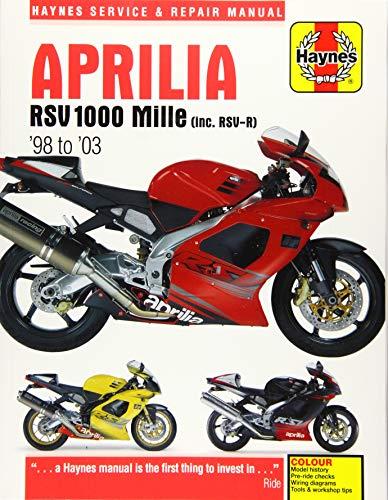 Aprilia RSV 1000 Mille (inc. RSV-R) '98 to '03 (Haynes Service & Repair Manual)