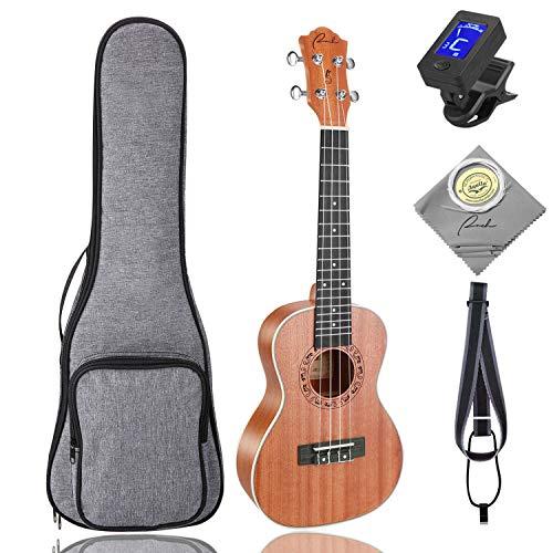 Tenor Ukulele Ranch 26 inch Professional Wooden ukelele Instrument Kit With Free Online 12 Lessons Small Hawaiian Beginner Guitar ukalalee Starter Pack Bundle Gig bag&Tuner& Strap&4 Aquila Strings Set