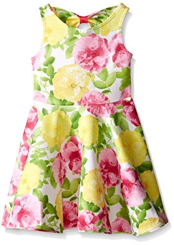 Sundress Mack Kate (Kate Mack Little Girls' Toddler Radiant Roses Scuba Dress, Multi, 2T)