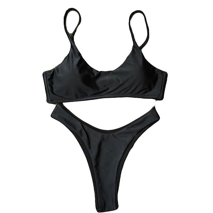 CSNK Traje de baño Traje de baño Sujetador Push-Up Acolchado para Mujer Bikini de