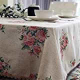 HOMEE Cotton fabric fashion lace tablecloth retro coffee table hotel Christmas decorations,90X140cm