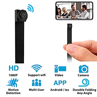 Mini WiFi Hidden Camera - Small Spy Cameras Wireless - Tiny Nanny Cam HD 1080P - Covert Home Monitoring - Security Surveillance Cams with Cell Phone App