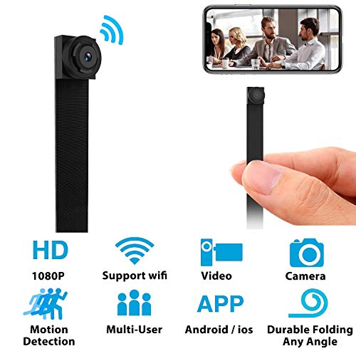 Mini WiFi Hidden Camera – Small Spy Cameras Wireless – Tiny Nanny Cam HD 1080P – Covert Home Monitoring – Security Surveillance Cams with Cell Phone App