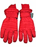Winter Warm-Up - Big Boys Ski Gloves, Red 36495-Medium