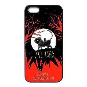 La caja del teléfono celular Caso Negro W8Z1WD2Q personalizada plástico Funda Cure Funda iPhone 5 5S Funda del teléfono celular