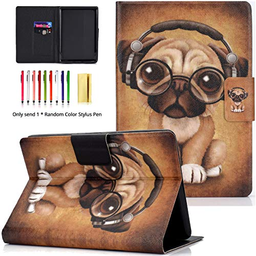 LittleMax Case for All-New Kindle Paperwhite 10th Generation, 2018 Release - Ultra Slim Smart Case Auto Wake/Sleep Cover for Amazon Kindle Paperwhite 2018-1 Headphone Dog
