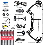 Compound Bow, for Adults, Archery Bow Set, Hunting Equipment with Accessories, 19-30' Draw Length,15-70Lbs Draw Weight(Ship from USA Warehouse) (red, Blue, camo, Black)