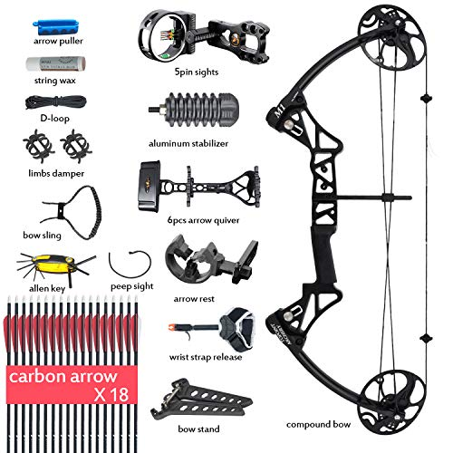 Compound Bow Archery Package with Hunting Accessories for Ad