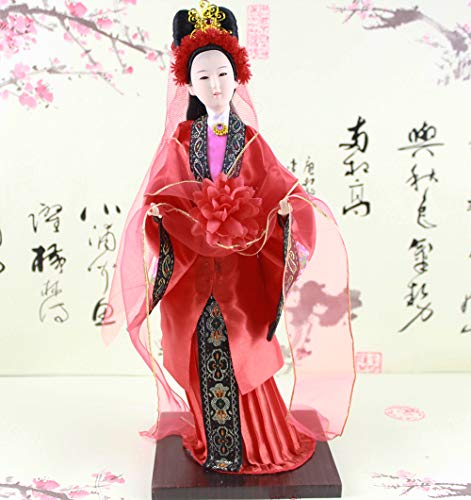 Heartrace Ancient Chinese Doll Decoration Doll Famous Novelty A Dream of Red Mansion Character-Jia Tanchun