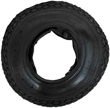 3.50-4 Innertube STRAIGHT VALVE WheelBarrow Wheels TYRE /& INNER TUBE 4.10
