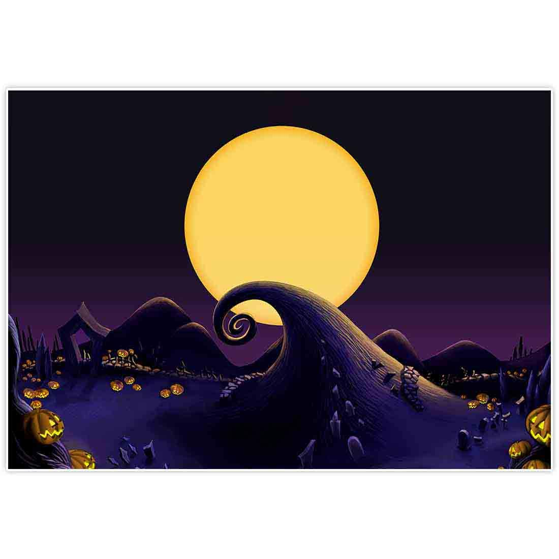 Allenjoy 7x5ft Nightmare Before Christmas Themed Backdrop for 2019 Halloween Pumpkin Jack Theme Birthday Baby Shower Photo Studio Photography Pictures Background Party Home Decor Decoration Shoot by Allenjoy