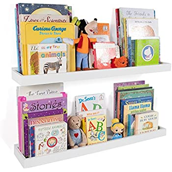 Lovely Wallniture Philly Nursery Bookshelf   Floating Book Shelves For Kids Room    31 Inch Picture Ledge