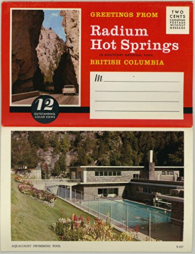 Radium Hot Springs - Kootenay National Park - British Columbia Canada - 1977 Grant-Mann Souvenir Postcard Folder #FC524
