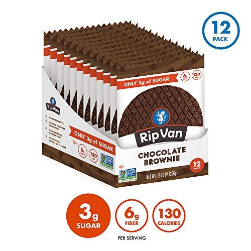 Rip Van Wafels Chocolate Brownie Stroopwafels - Healthy Snacks - Non GMO Snack - Keto Friendly - Office Snacks - Low Sugar (3g) - Low Calorie Snack - 12 Pack 4