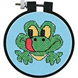 Dimensions Needlecrafts Stamped Cross Stitch, Friendly Frog