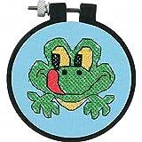 Dimensions Needlecrafts 72531 Stamped Cross Stitch, Friendly Frog