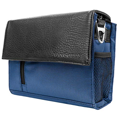 Portable Projector Crossbody Case Bag Fit Sony, Kodak, ViewSonic, RIF6, Nebula, VANKYO, APEMAN, Blue