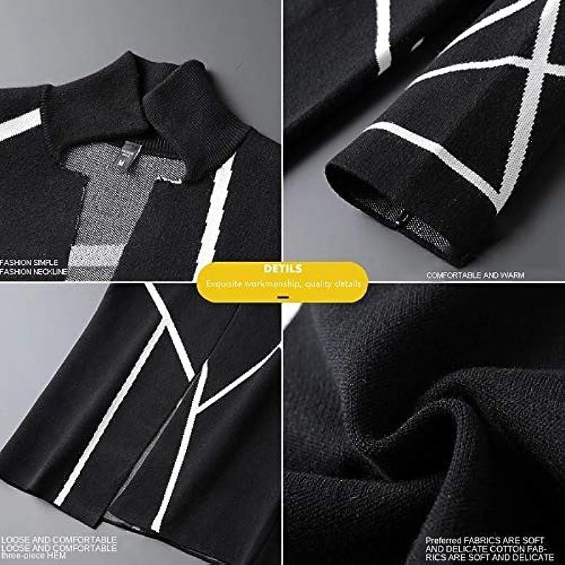 Gestrickte Męskie Trench Cardigan Langarm Outwear Cardigan Sweater Koreanische lose Taschen Mantel Freizeitjacken: Sport & Freizeit