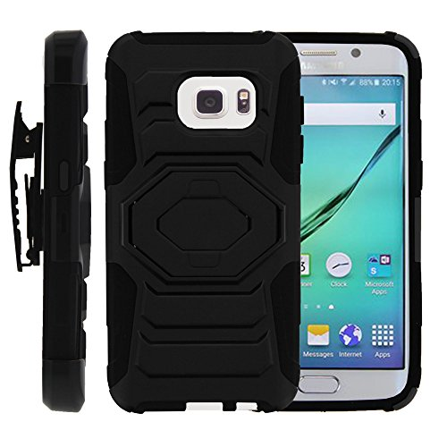 Speciality Patterns - MINITURTLE Case Compatible w/Galaxy S7 Case, [Armor Reloade ] Refined Heavy Duty Clip Rugged Armor Impact Stand Case Speciality Graphic Pattern for [ Samsung Galaxy S7 ] Black
