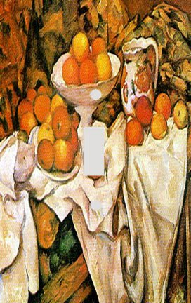 Oranges Cezanne And Apples - Cezanne Apples and Oranges Switchplate - Switch Plate Cover