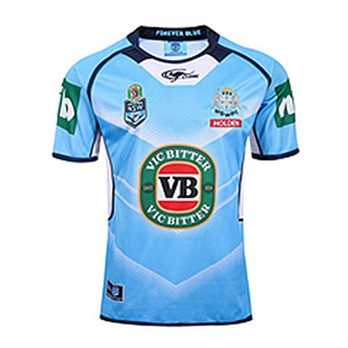 DLGLOBAL New South Wales Blues Rugby Jersey S-3XL